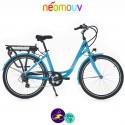 NEOMOUV LINARIA 15.4Ah, couleur bleu et cadre de 44cm avec système d'assistance-Vélo électrique pour Femmes