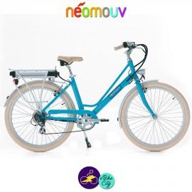 NEOMOUV ARTÉMIS 15.4Ah, couleur bleu lagon et cadre de 44cm avec système d'assistance-Vélo électrique pour Femmes