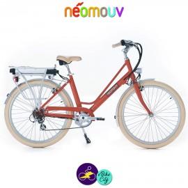 NEOMOUV ARTÉMIS 15.4Ah, couleur orange tangerine et cadre de 44cm avec système d'assistance-Vélo électrique pour Femmes