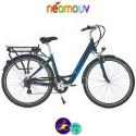 """NEOMOUV CARLINA 26"""" 15.4Ah, couleur bleu classique et cadre de 46cm avec système d'assistance-Vélo électrique pour Femmes"""