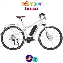 NEOMOUV MONTANA BROSE 13Ah, couleur blanc et cadre de 44cm avec système d'assistance BROSE-Vélo électrique pour Hommes