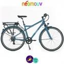 NEOMOUV MONTANA 15.4Ah, couleur gris bleuté et cadre de 48cm avec système d'assistance-Vélo électrique pour Hommes