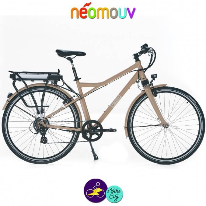 NEOMOUV MONTANA 15.4Ah, couleur café au lait et cadre de 48cm avec système d'assistance-Vélo électrique pour Hommes