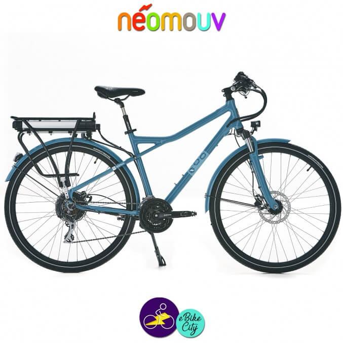 NEOMOUV MONTANA T 15.4Ah, couleur gris bleuté et cadre de 48cm avec système d'assistance-Vélo électrique pour Hommes