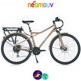 NEOMOUV MONTANA T 15.4Ah, couleur café au lait et cadre de 48cm avec système d'assistance-Vélo électrique pour Hommes