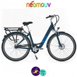 """NEOMOUV CARLINA N7 26"""" 15.4Ah, couleur bleu classique et cadre de 46cm avec système d'assistance-Vélo électrique pour Femmes"""