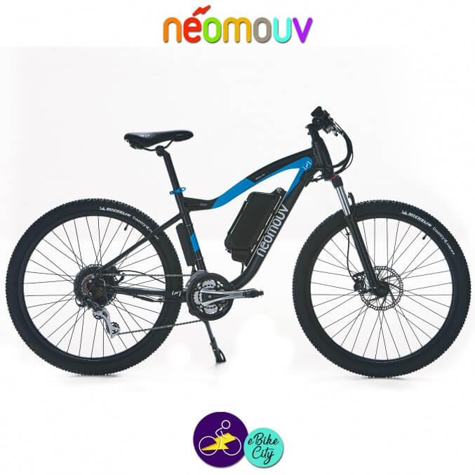 NEOMOUV CRONOS 10.4Ah, couleur anthracite et bleu avec cadre de 44cm avec système d'assistance-Vélo électrique pour Hommes
