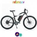 NEOMOUV CRONOS 10.4Ah, couleur anthracite et blanc avec cadre de 44cm avec système d'assistance-Vélo électrique pour Hommes