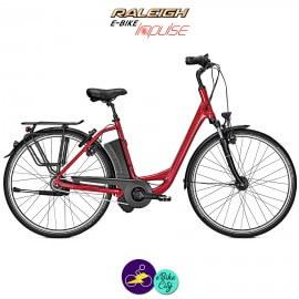 """Raleigh DOVER 8 HS 14.5Ah rouge 28"""", hauteur du cadre 50cm avec système d'assistance IMPULSE 2.0-Vélo électrique pour Femmes"""