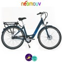 """NEOMOUV CARLINA N7 28"""" 15.4Ah, couleur bleu classique et cadre de 46cm avec système d'assistance-Vélo électrique pour Femmes"""