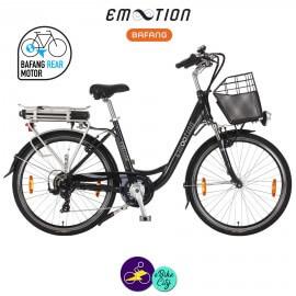 E-MOTION-PRELUDE 13Ah, hauteur du cadre 46cm couleur noir avec système d'assistance BAFANG SWX01-Vélo électrique pour Femmes