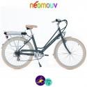 NEOMOUV ARTÉMIS 15.4Ah, couleur gris brun et cadre de 44cm avec système d'assistance-Vélo électrique pour Femmes