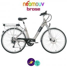 NEOMOUV IRIS 15.4Ah, couleur titane et cadre de 45cm avec système d'assistance BROSE-Vélo électrique pour Femmes