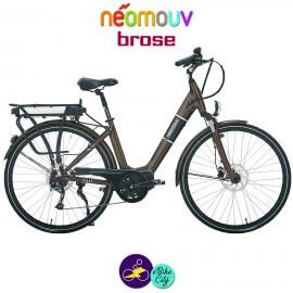 NEOMOUV IRIS 15.4Ah, couleur chocolat et cadre de 45cm avec système d'assistance BROSE-Vélo électrique pour Femmes