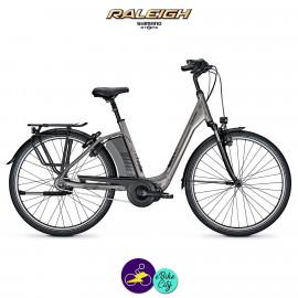 """Raleigh CORBY 8 gris clair 17,5Ah, 26"""" cadre 45cm avec système d'assistance SHIMANO STEPS-Vélo électrique pour Femmes"""