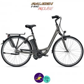 """Raleigh DOVER 7 HS 14,5Ah, 28"""" hauteur du cadre 46cm gris carbone avec système IMPULSE 2.0-Vélo électrique pour Femmes"""