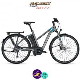 Raleigh STOKER 9 EVO 13Ah, cadre 45cm de couleur gris mat avec système d'assistance IMPULSE EVO-Vélo électrique pour Femmes