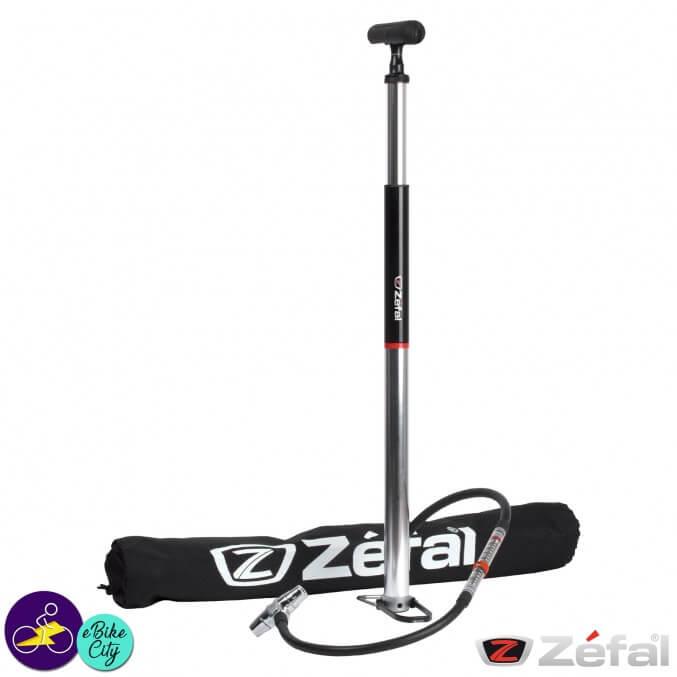Pompe de gonflage à pied Z-TWIN noire et argent Zéfal PROFIL TRAVEL