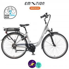 E-MOTION-VANCOUVER 13Ah, hauteur du cadre 42cm avec système d'assistance BAFANG BBS-01-Vélo électrique pour Femmes