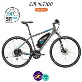 E-MOTION-LUBERON 11,4Ah, hauteur du cadre 43cm avec système d'assistance BAFANG RM G12.250.DC-Vélo électrique pour Hommes