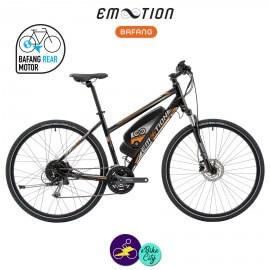 E-MOTION-LUBERON 11,4Ah, hauteur du cadre 48cm avec système d'assistance BAFANG RM G12.250.DC-Vélo électrique pour Femmes