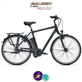 Raleigh DOVER 8 HS 17Ah, hauteur du cadre 55cm de couleur noir avec système d'assistance IMPULSE 2.0-Vélo électrique pour Hommes
