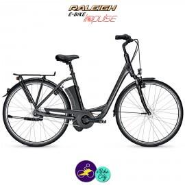 """Raleigh DOVER 7 11Ah, 26"""" cadre de 46cm couleur noir avec système d'assistance IMPULSE 2.0-Vélo électrique pour Femmes"""