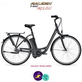 """Raleigh DOVER 7 11Ah, 28"""" cadre 46cm rouge cerise avec système d'assistance IMPULSE 2.0-Vélo électrique pour Femmes"""