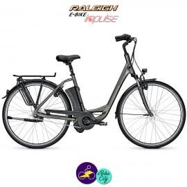 """Raleigh DOVER 7 HS 14,5Ah, 26"""" hauteur du cadre 46cm gris carbone avec système IMPULSE 2.0-Vélo électrique pour Femmes"""
