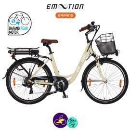 E-MOTION-PRELUDE 13Ah, hauteur du cadre 46cm couleur crème avec système d'assistance BAFANG SWX01-Vélo électrique pour Femmes