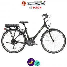 """LOMBARDO e-RAVENNA SPORT 8,2Ah, hauteur du cadre 19"""" avec système d'assistance BOSCH ACTIVE-Vélo électrique pour Femmes"""