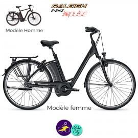 Raleigh BOSTON 8 17,5Ah, hauteur du cadre 50cm avec système d'assistance IMPULSE EVO-Vélo électrique pour Hommes
