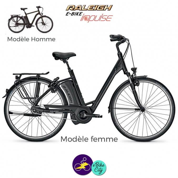 Raleigh BOSTON 8 avec système d'assistance IMPULSE EVO-Vélo électrique pour Hommes