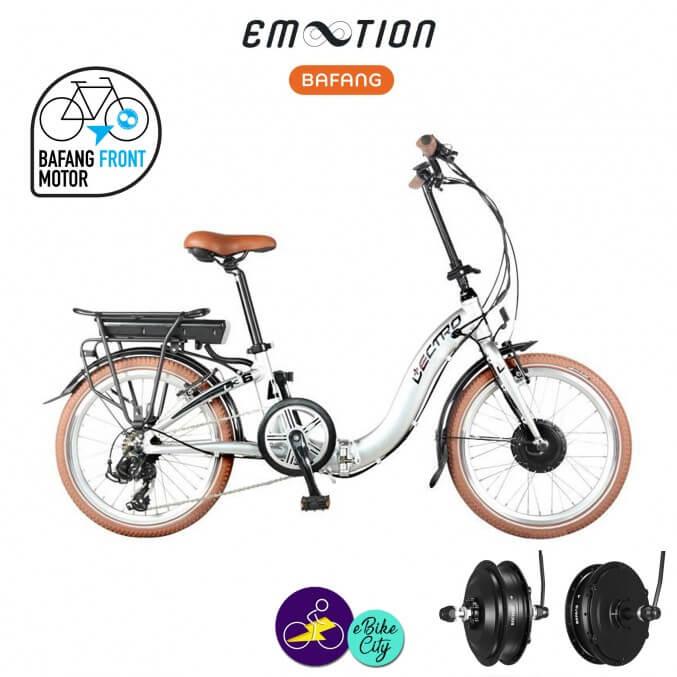 """E-MOTION-L'ECTRO 8.8Ah, hauteur du cadre 20""""cm avec système d'assistance BAFANG brushless front hub-Vélo électrique pliant Mixte"""