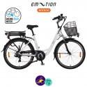 E-MOTION-PRELUDE 13Ah, hauteur du cadre 46cm couleur blanc avec système d'assistance BAFANG SWX01-Vélo électrique pour Femmes