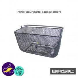Panier CATU pour porte-bagage arrière de la marque BASIL avec fixation BASSOLID
