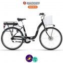 """LOMBARDO E-ELBA EVOLUTION 11.6Ah, couleur noir et cadre 17"""" avec système d'assistance BAFANG-Vélo électrique pour Femmes"""