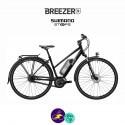 BREEZER-GREENWAY IG+ ST-DI2 11.1Ah, cadre de 44cm en satin noir avec assistance Shimano Steps-Vélo électrique pour Hommes