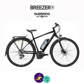 BREEZER-GREENWAY+ 11.1Ah, cadre de 54cm en satin noir avec assistance Shimano Steps-Vélo électrique pour Hommes