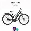 BREEZER-GREENWAY IG+ ST 11.1Ah, cadre de 48cm en satin gris avec assistance Shimano Steps-Vélo électrique pour Femmes