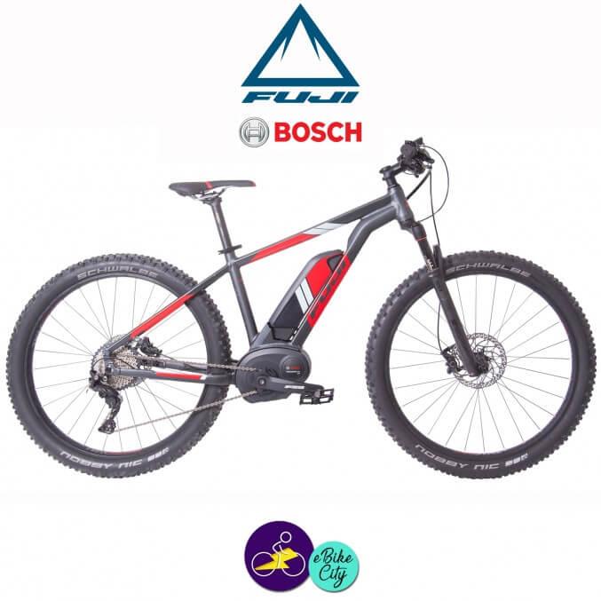 """FUJI AMBIENT 27.5+ 1.1-13,4Ah, hauteur du cadre 17"""" avec système d'assistance BOSCH PERFORMANCE CX-Vélo électrique pour Hommes"""