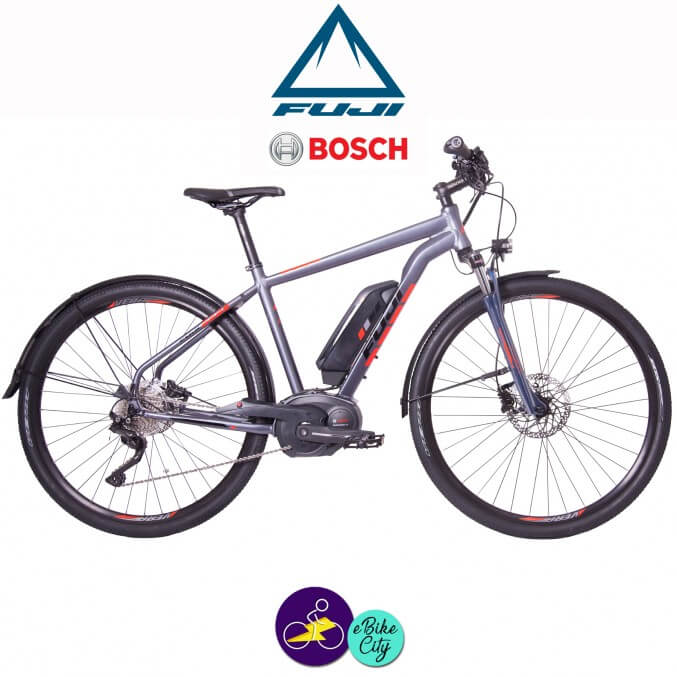 """FUJI TRAVERSE1.1 ST-13,4Ah, hauteur du cadre 18"""" avec système d'assistance BOSCH PERFORMANCE LINE-Vélo électrique pour Femmes"""