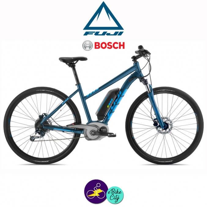 """FUJI E-TRAVERSE CLASSIC 11Ah, hauteur du cadre 20"""" avec système d'assistance BOSCH ACTIVE LINE -Vélo électrique pour Femmes"""