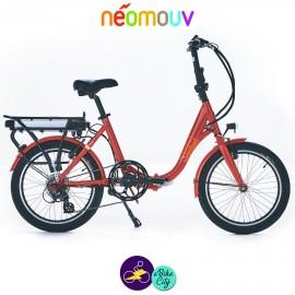 NEOMOUV PLIMOA N3 11Ah, tangerine et cadre de 40cm avec système d'assistance-Vélo électrique pliant Mixte