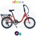 NEOMOUV PLIMOA N3 15.4Ah, tangerine et cadre de 40cm avec système d'assistance-Vélo électrique pliant Mixte