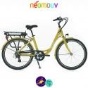NEOMOUV LINARIA 15.4Ah, couleur moutarde et cadre de 44cm avec système d'assistance-Vélo électrique pour Femmes